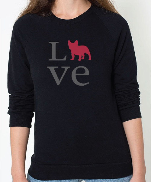 Unisex Love French Bulldog Sweatshirt