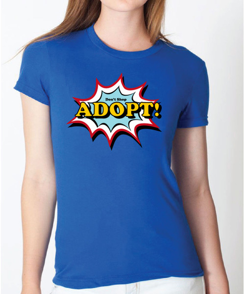 Women's Comic Art Adopt Tee