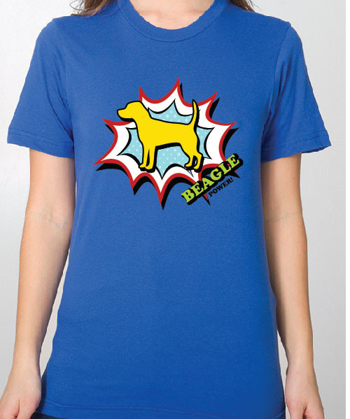 Unisex Comic Beagle T-Shirt