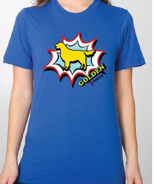 Unisex Comic Golden Retriever T-Shirt