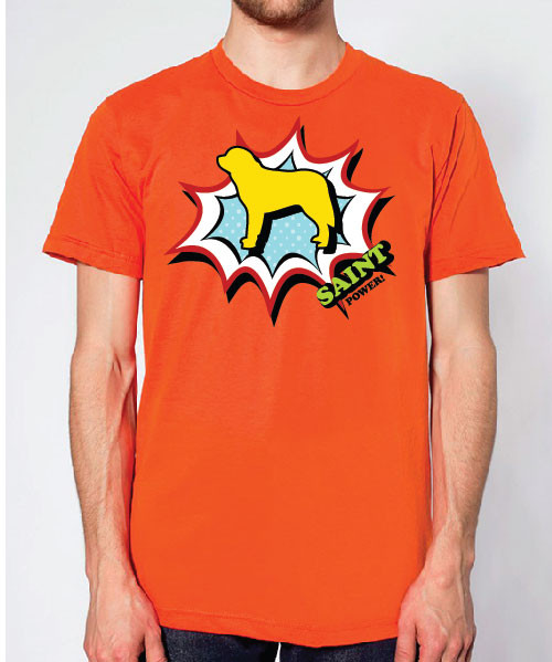 Righteous Hound - Unisex Comic Saint Bernard T-Shirt