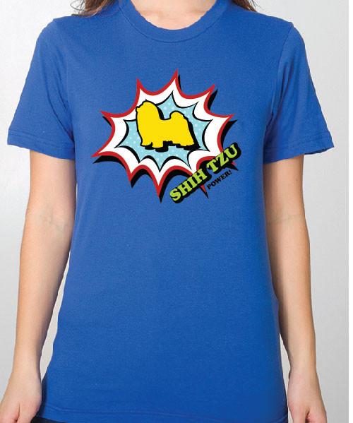 Unisex Comic Shih Tzu T-Shirt