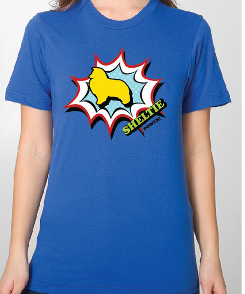 Unisex Comic Shetland Sheepdog T-Shirt