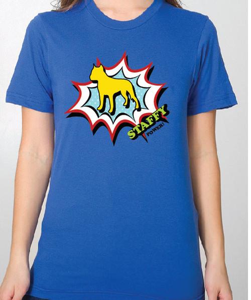 Unisex Comic Staffordshire Terrier T-Shirt