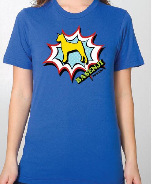 Unisex Comic Basenji T-Shirt