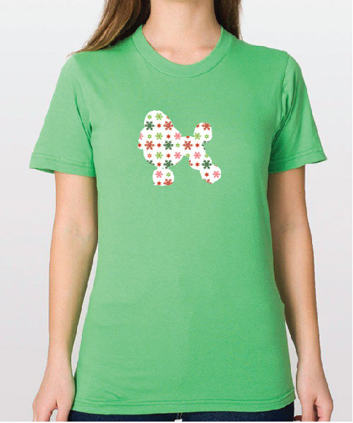 Righteous Hound - Unisex Holiday Poodle T-Shirt