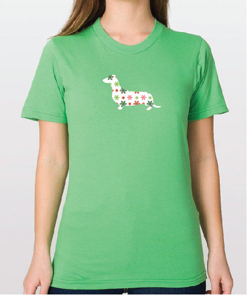 Righteous Hound - Unisex Holiday Dachshund T-Shirt