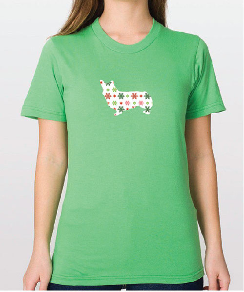 Righteous Hound - Unisex Holiday Corgi T-Shirt
