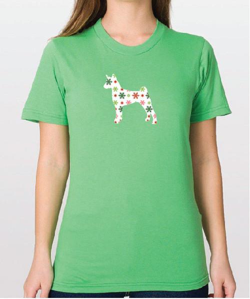 Righteous Hound - Unisex Holiday Basenji T-Shirt