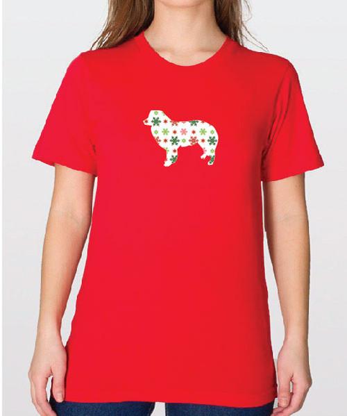 Unisex Holiday Border Collie T-Shirt