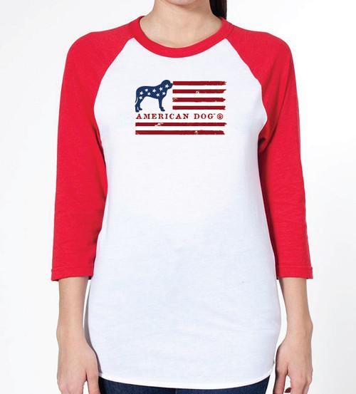 Unisex Flag Mastiff Raglan T-Shirt