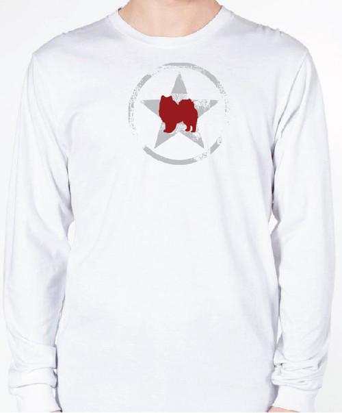 Unisex AllStar American Eskimo Dog Long Sleeve T-Shirt