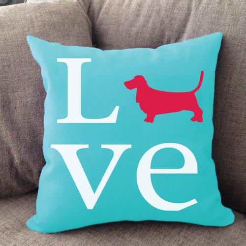 Basset Hound Love Pillow