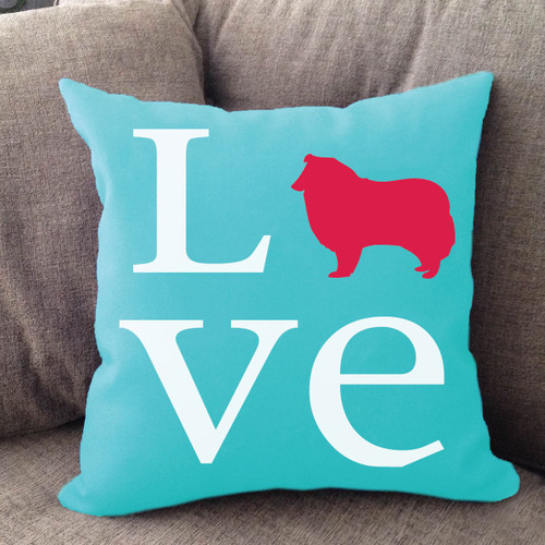 Collie Love Pillow
