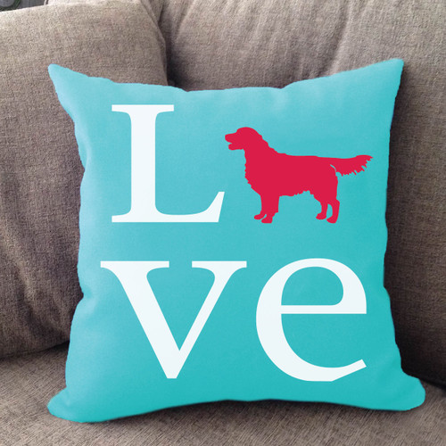 Golden Retriever Love Pillow