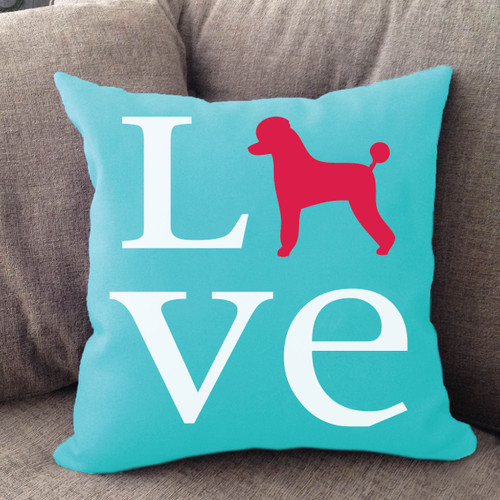 Poodle Love Pillow