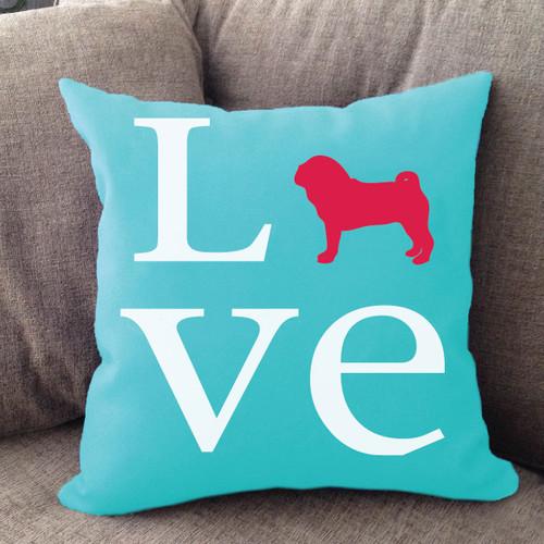 Pug Love Pillow