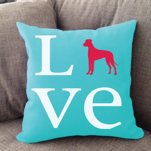 Great Dane Love Pillow
