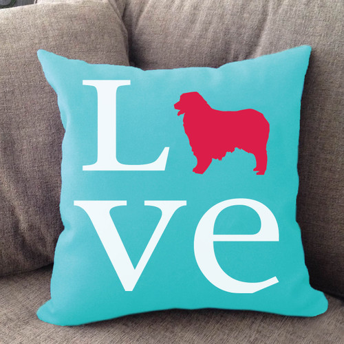 Australian Shepherd Love Pillow