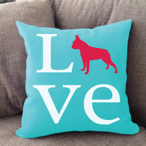 Boston Terrier Love Pillow