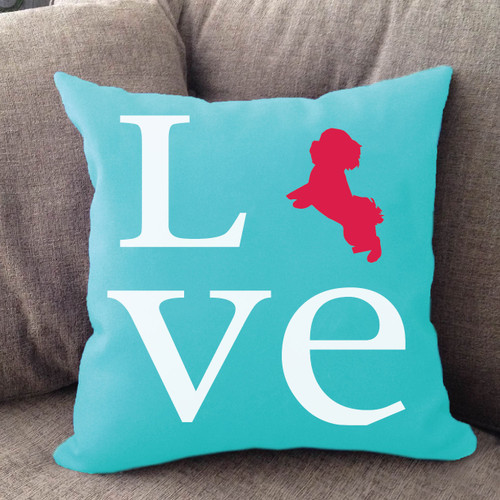 Maltese Love Pillow
