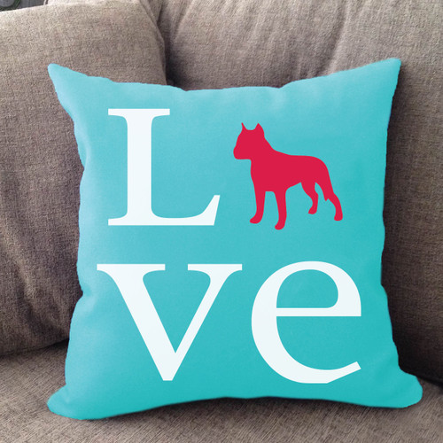 Staffordshire Terrier Love Pillow