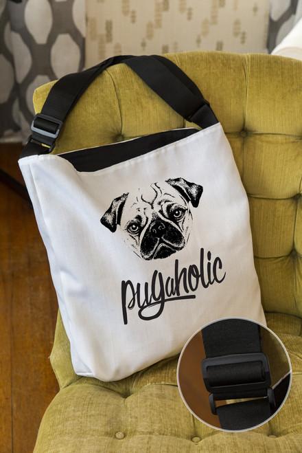 Pugaholic Adjustable Tote