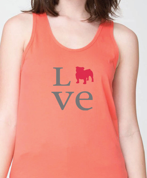 Unisex Love Bulldog Tank Top