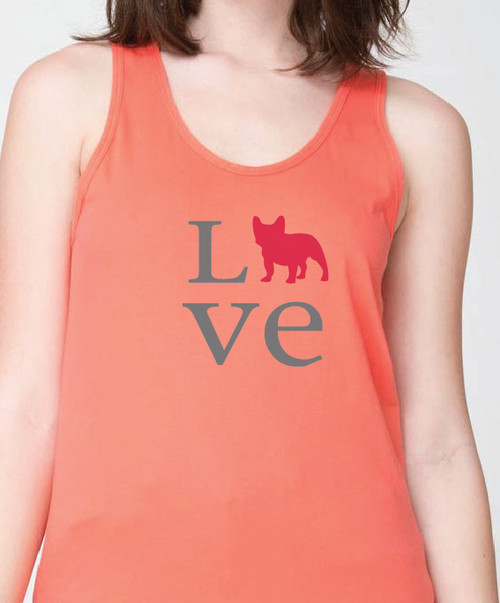 Unisex Love French Bulldog Tank Top