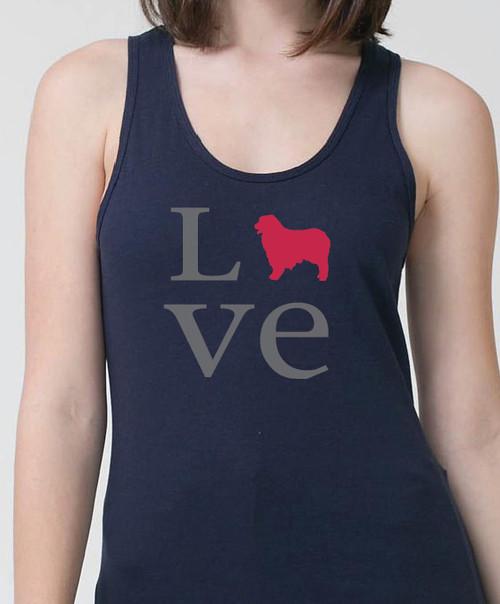 Righteous Hound - Unisex Love Australian Shepherd Tank Top