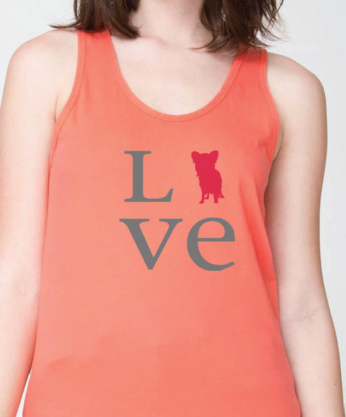 Unisex Love Papillon Tank Top