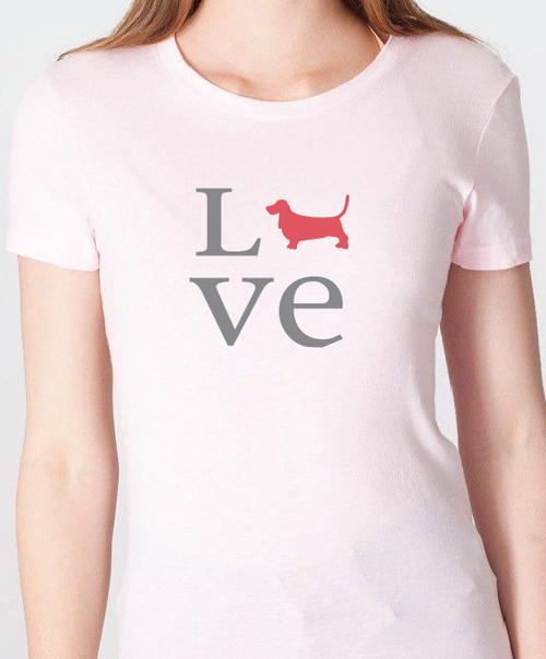Unisex Love Basset Hound T-Shirt