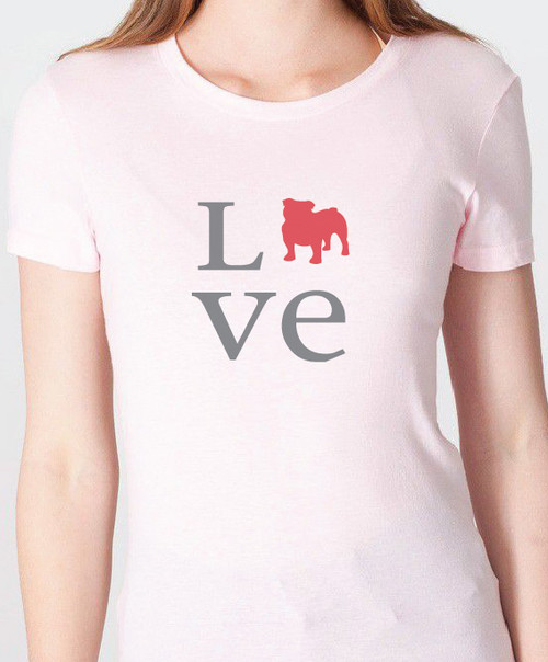 Unisex Love Bulldog T-Shirt