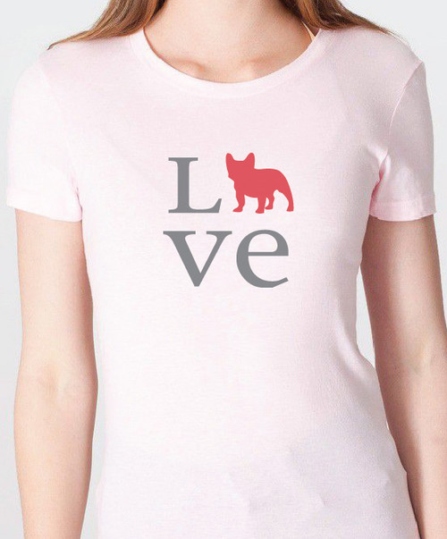 Unisex Love French Bulldog T-Shirt