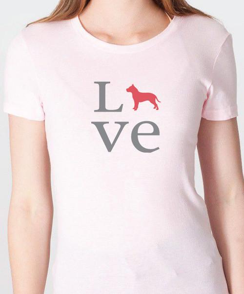Unisex Love Pitbull T-Shirt