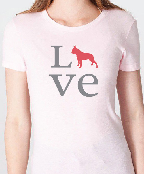 Unisex Love Boston Terrier T-Shirt