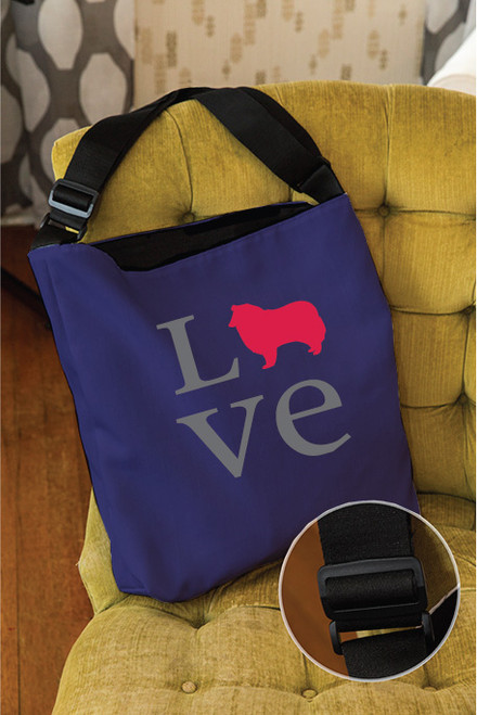 Righteous Hound - Love Collie Adjustable Tote Bag