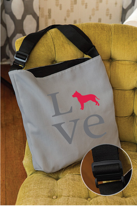 Love Pitbull Adjustable Tote Bag