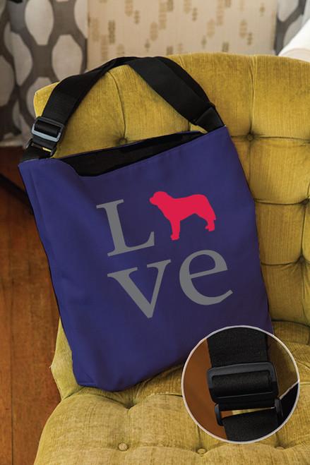 Righteous Hound - Love Saint Bernard Adjustable Tote Bag