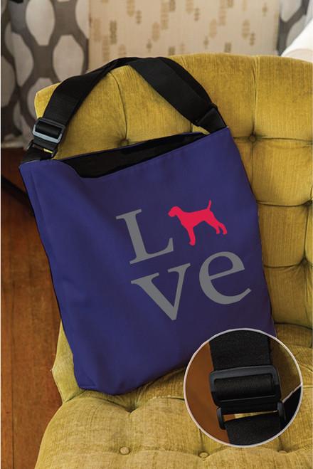 Righteous Hound - Love Vizsla Adjustable Tote Bag