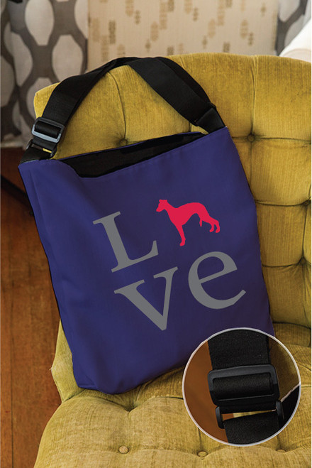 Righteous Hound - Love Whippet Adjustable Tote Bag