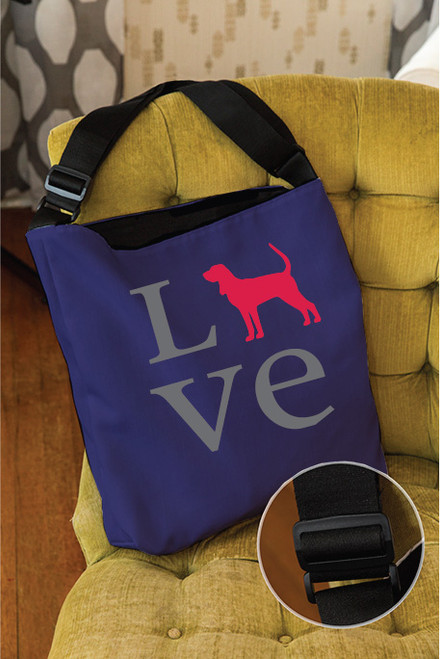 Righteous Hound - Love Coonhound Adjustable Tote Bag