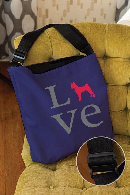 Righteous Hound - Love Basenji Adjustable Tote Bag