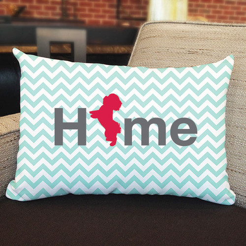 Righteous Hound - Home Maltese Pillow