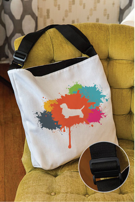 Splatter Basset Hound Adjustable Tote Bag
