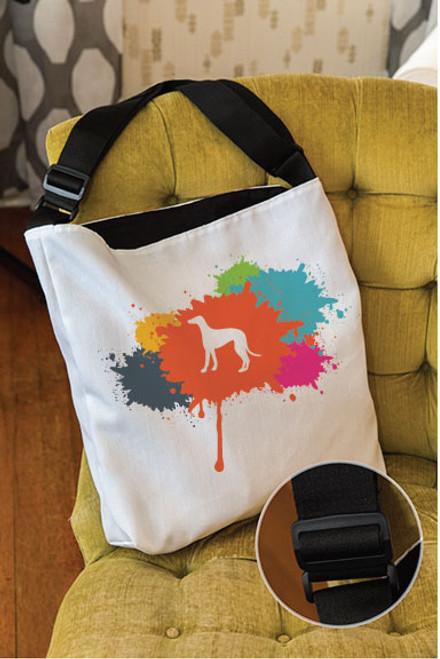 Splatter Greyhound Adjustable Tote Bag