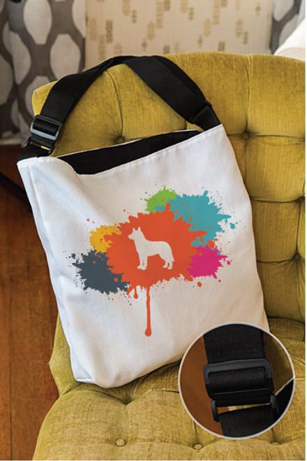 Splatter Husky Adjustable Tote Bag