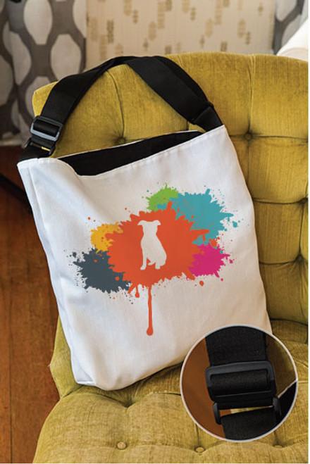 Splatter Pitbull Adjustable Tote Bag