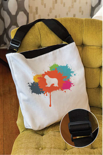 Splatter Cavalier King Charles Spaniel Adjustable Tote Bag