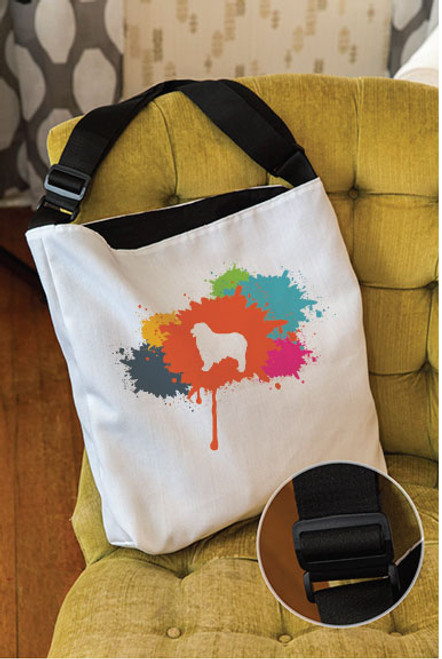 Splatter Australian Shepherd Adjustable Tote Bag